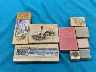 lIGHTHOUSE  PATTERNS  AND FlOWER RUBBER STAMPS
