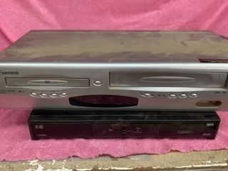 EMERSON DVD AND VHS PlAYER AND DISH SATEllITE
