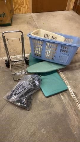 2 ClOTHES BASKETS  2 MINI IRONING BOARDS  PUll