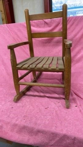VINTAGE CHIlDS ROCKER WOODEN