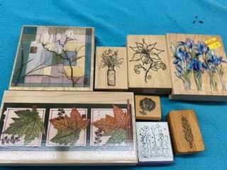 8 FlORAl RUBBER STAMPS