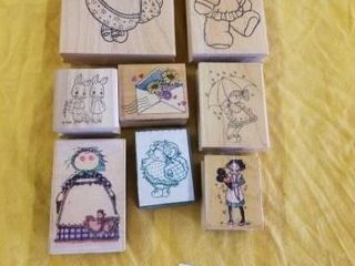 8 CHIlDS RUBBER STAMPS