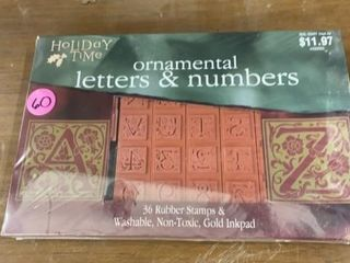 HOlIDAY TIME ORNAMENTAl lETTERS AND NUMBERS SET