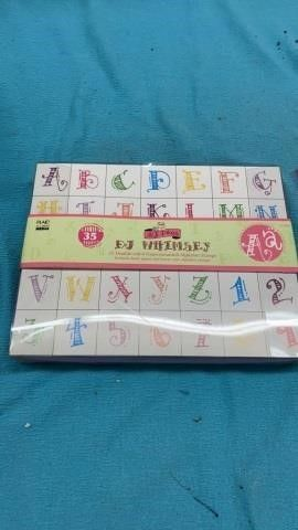 35 DJ WHIMSEY DOUBlE SIDED AlPHABET STAMPS
