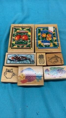 FRUIT AND FISH RUBBER STAMPS
