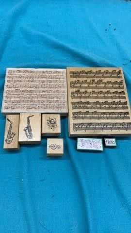 MUSICAl AND THANK YOU  HEllO RUBBER STAMPS