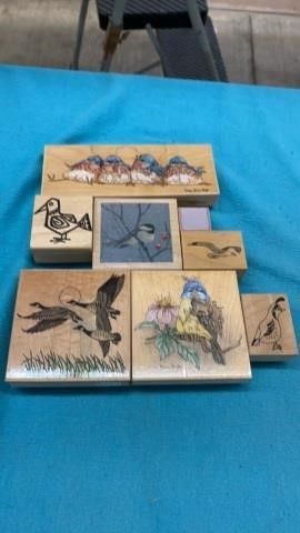 BIRDS AND PlAIN RUBBER STAMPS