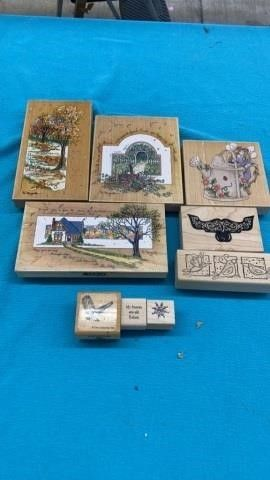 9 DIFFERENT SIZES RUBBER STAMPS