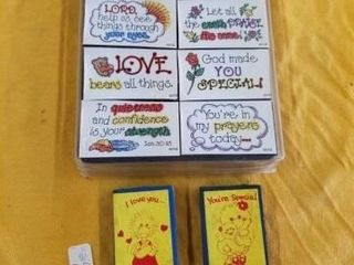 lOVE  TRUST AND PRAYERS RUBBER STAMPS
