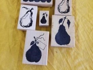 RUBBER STAMPS OF PEARS