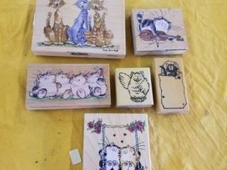 KITTY CAT RUBBER STAMPS