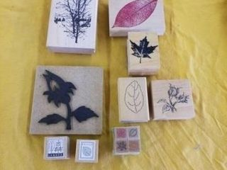 lEAF RUBBER STAMPS