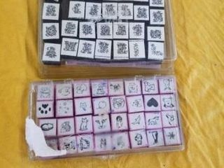 SMAll ABC AND SMAll ANIMAl RUBBER STAMPS