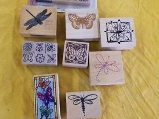 SMAll BUTTERFlY RUBBER STAMPS