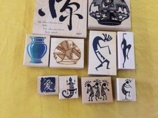 ANCIENT SYMBOlS RUBBER STAMPS