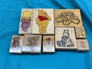 9 BEARS RUBBER STAMPS