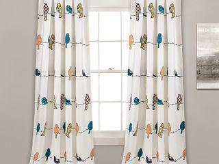 Rowley Birds Room Darkening Window Curtain Panels   Set of 2