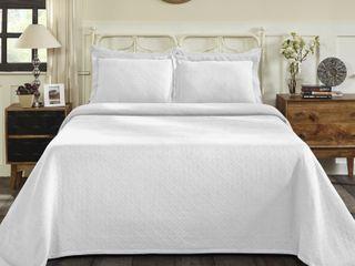 Superior Jacquard Matelasse Basket Comforter Set   King