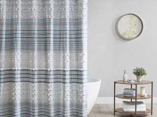 Urban Habitat Charlie Cotton Yarn Dye Shower Curtain