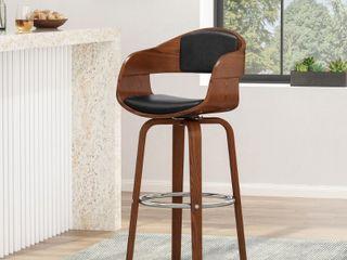 Clyo Indoor Upholstered Swivel Barstool