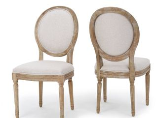 Phinnaeus Fabric Dining Chairs by Christopher Knight Home   Set of 2