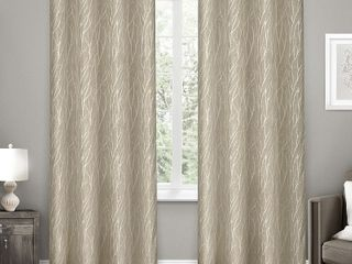 Exclusive Home Forest Hill Woven Blackout Curtain Panels   Set of 2