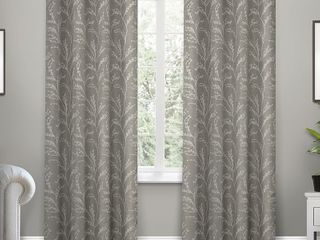 ATI Home Kilberry Woven Blackout Grommet Top Curtain Panel Pair
