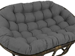 Blazing Needles 65in Solid Double Papasan Cushion in Grey   Cushion Only