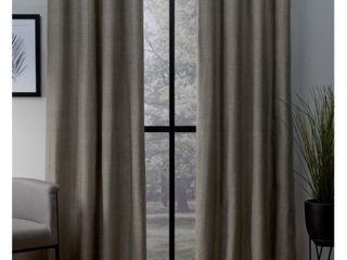 54 x 96in london Thermal Textured linen Grommet Top Blackout Window Curtain Panels in Brown