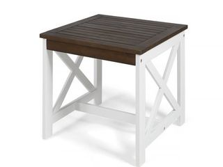 Farmhouse Acacia Wood End Table