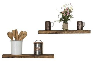 Del Hutson Designs True Floating Shelves 24  Set of 2