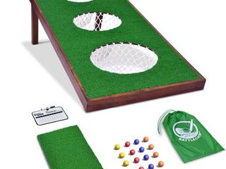 GoSports BattleChip PRO Golf Game Includes 4  x 2  Target  16 Foam Balls  Hitting Mat  and Scorecard