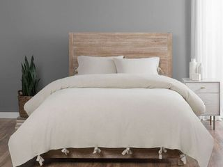 Natural King 3 Piece Duvet Set