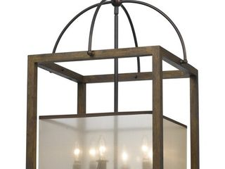 6 light 60watt Rectangular Chandelier