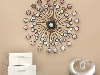 27in Multicolored Iron Starburst Wall Art