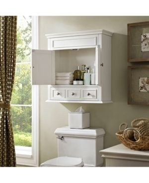 lydia White Finish Wood Wall Cabinet