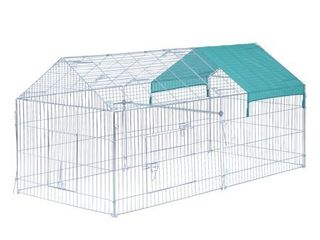 PawHut Outdoor Metal Small Animal Enclosure Retail 101 49