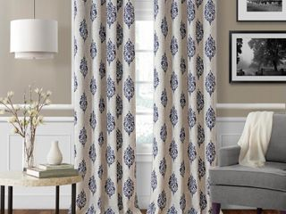 Navara Medallion Room Darkening Window Curtain