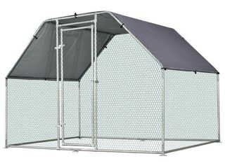 HARDWARE ONlY Outdoor Safe  Pawhut Galvanized Metal Chicken Coop Cage with Cover  Walk In Pen HARDWARE ONlY SEE PHOTOS