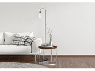 64 5 Matte Black metal Floor lamp