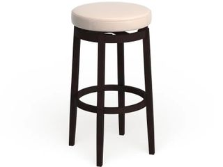 Bennery Backless Off White Swivel Stool