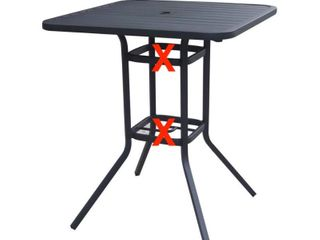 Pelham Bay Bar Table Matte Black   Parts Missing