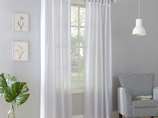 No  918 Farrell Semi Sheer Tab Top Curtain Panel
