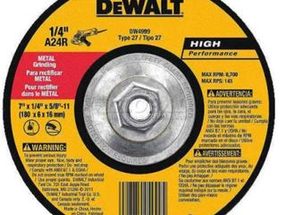 DEWAlT DW4719 7 Inch by 1 4 Inch by 7 8 Inch General Purpose Metal Grinding Wheel  Set of 3