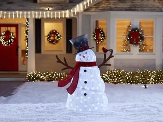 Holiday living lighted Snowman With Hat