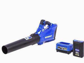 Kobalt 1130007 40v Max Cordless Blower Kit  Battery  amp  Charger Included Retail 159 99