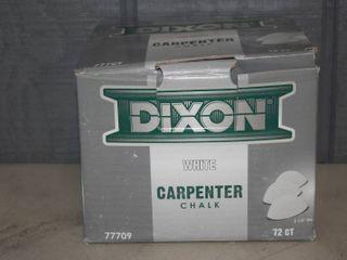 72 Count Box Dixon White Carpenter Chalk