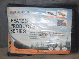 SJC Tech 12V Heated Blanket   Black