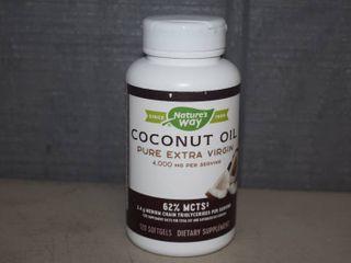 10 Bottles Nature s Way Coconut Oil   120 Count   Expire 3 31 2022