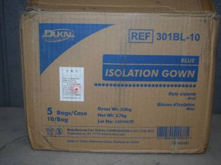 50 Blue Isolation Gowns
